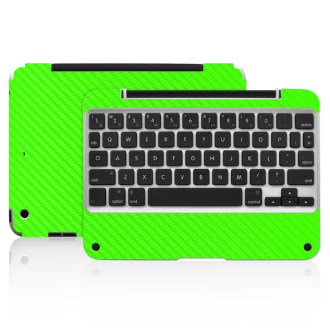 Clamcase Pro Mini Skin - Green Carbon Fiber - iCarbons