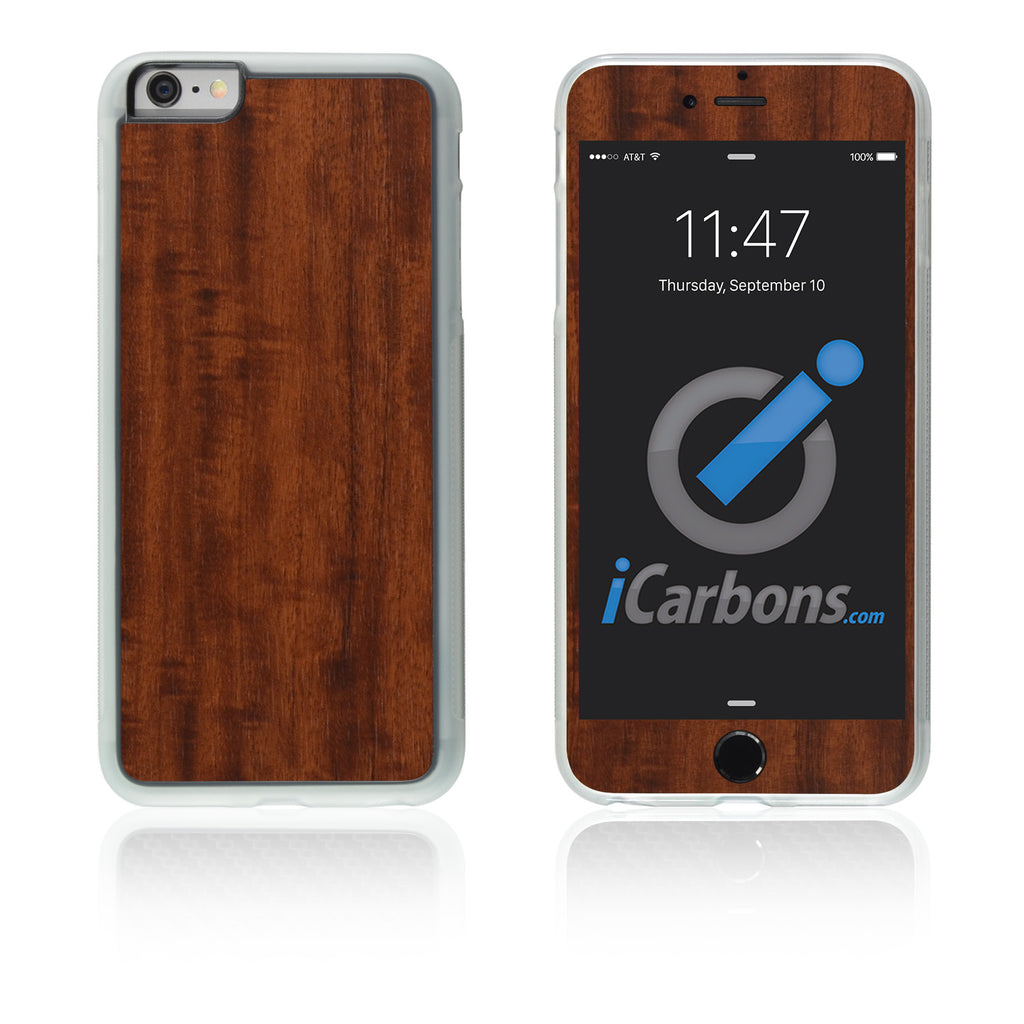iPhone 6 Plus / 6S Plus HD Skin Case - Wood Grain - iCarbons - 1