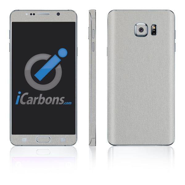 Samsung Galaxy Note 5 Skins - Brushed Metal - iCarbons - 2