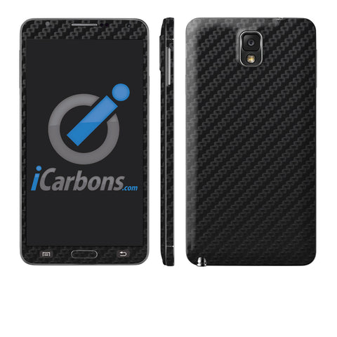 Samsung Galaxy Note 3 - Black Carbon Fiber - iCarbons - 1