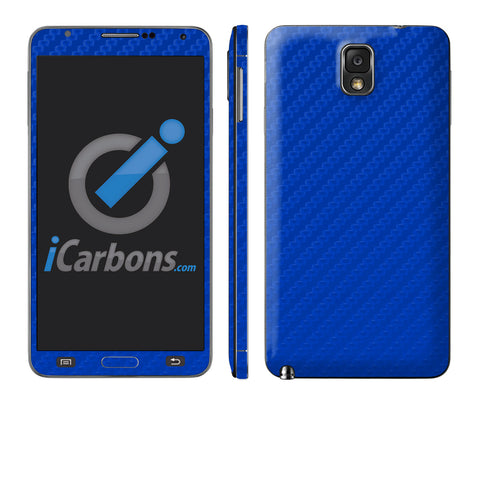 Samsung Galaxy Note 3 - Blue Carbon Fiber - iCarbons - 1
