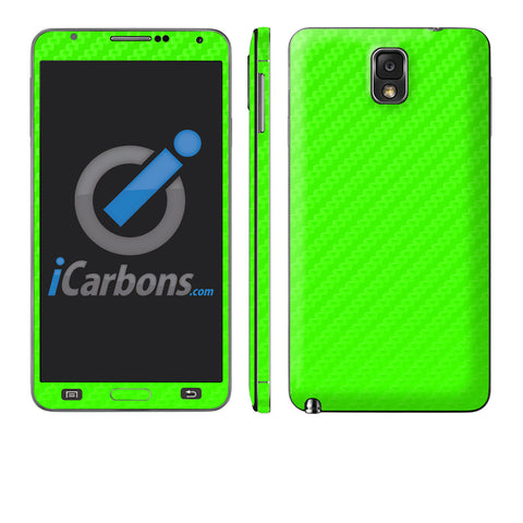 Samsung Galaxy Note 3 - Green Carbon Fiber - iCarbons - 1