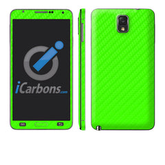 Samsung Galaxy Note 3 - Green Carbon Fiber