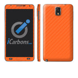Samsung Galaxy Note 3 - Orange Carbon Fiber - iCarbons - 1