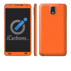 Samsung Galaxy Note 3 - Orange Carbon Fiber