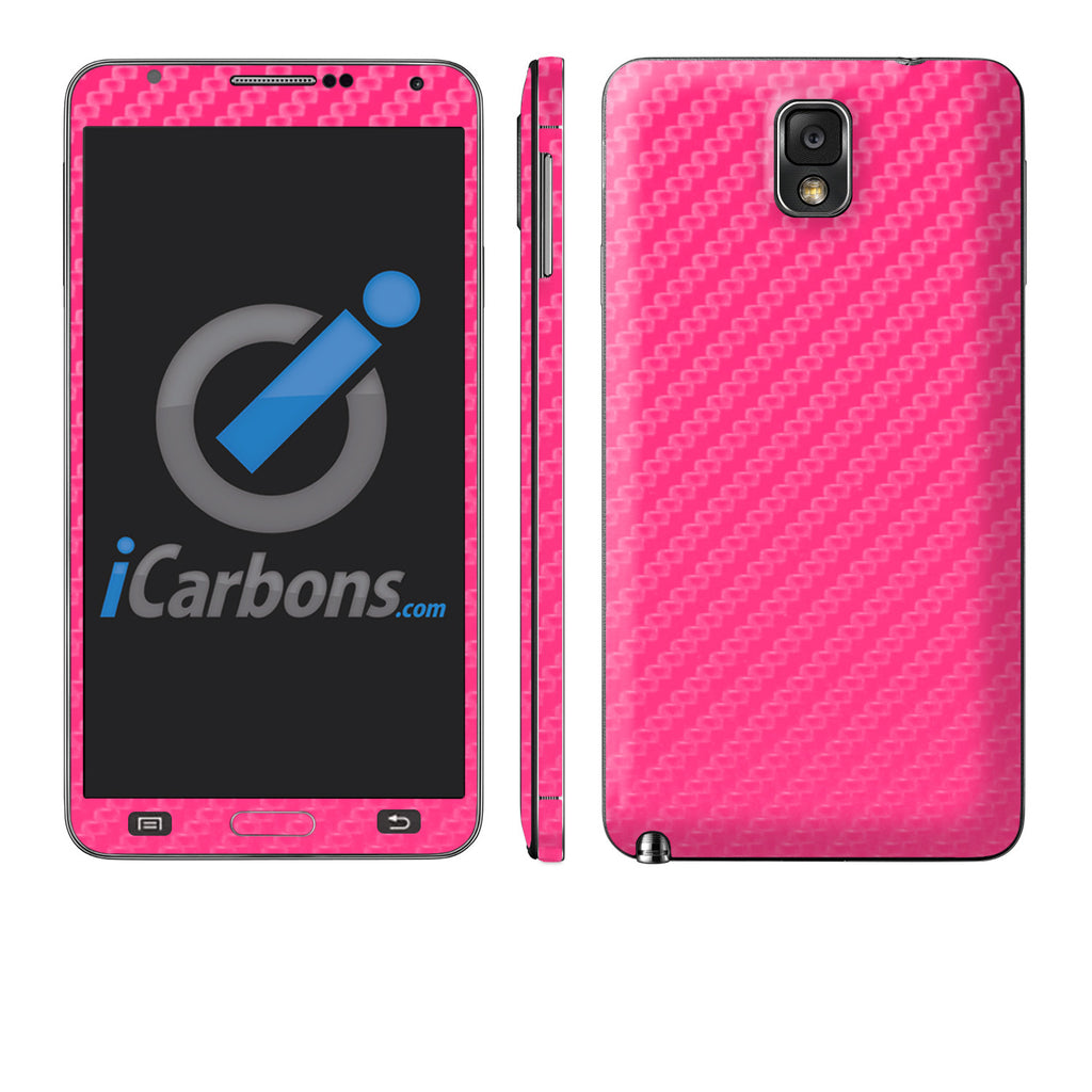 Samsung Galaxy Note 3 - Pink Carbon Fiber - iCarbons - 1