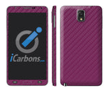 Samsung Galaxy Note 3 - Purple Carbon Fiber - iCarbons - 1