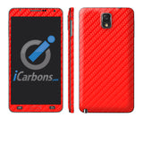 Samsung Galaxy Note 3 - Red Carbon Fiber - iCarbons - 1