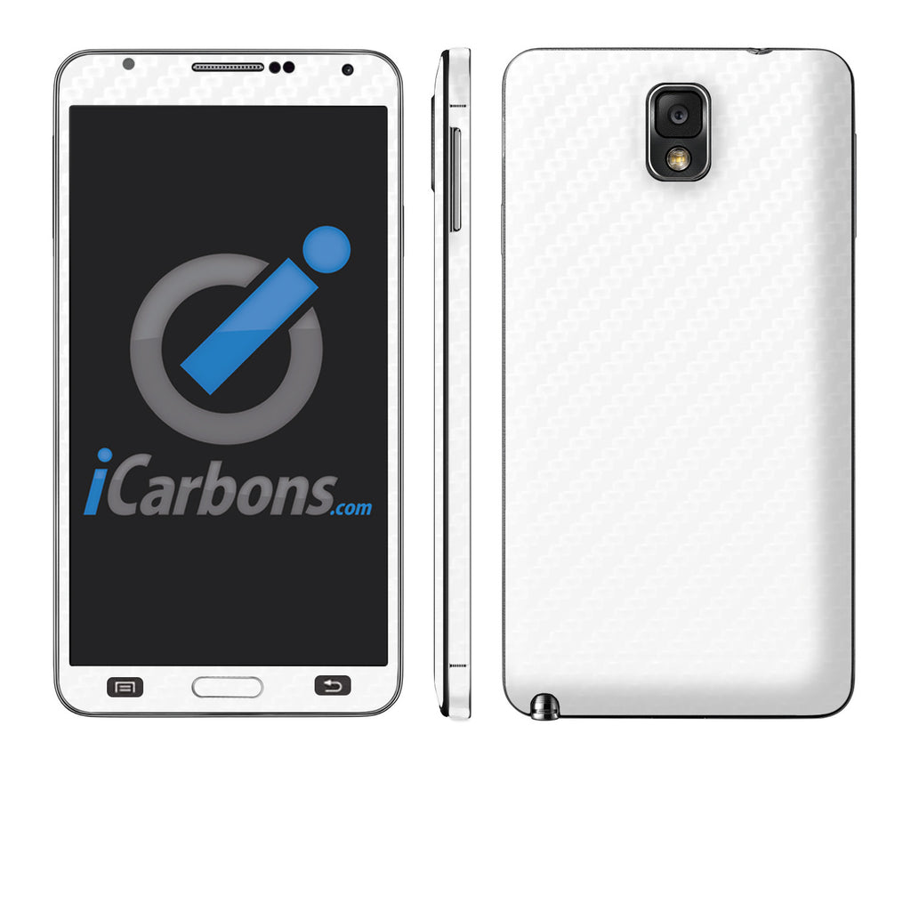Samsung Galaxy Note 3 - White Carbon Fiber - iCarbons - 1