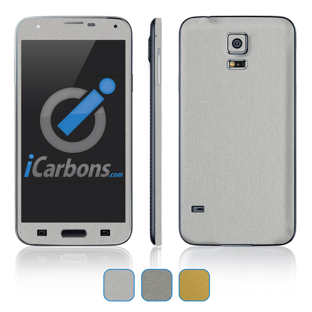 Samsung Galaxy S5 Skins - Brushed Metal - iCarbons - 1
