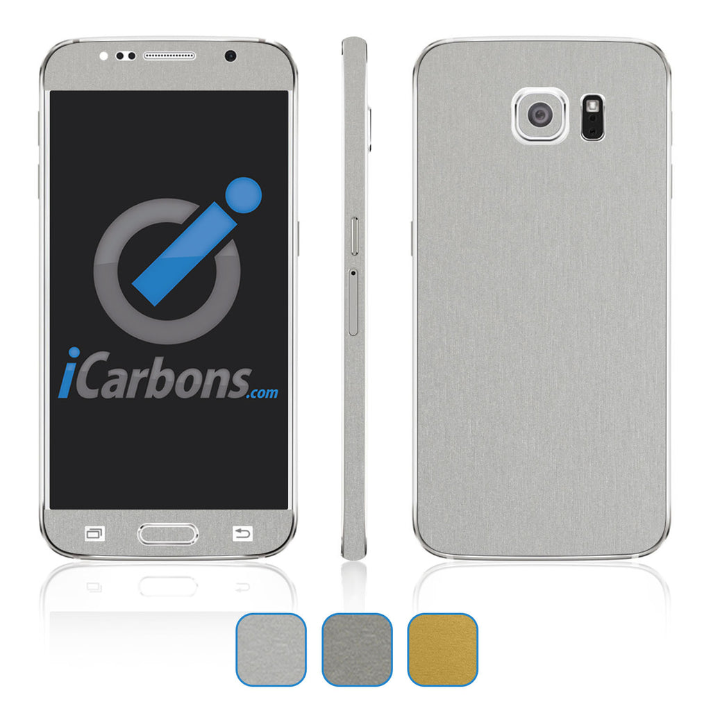 Samsung Galaxy S6 Skins - Brushed Metal - iCarbons - 1
