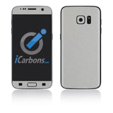 Samsung Galaxy S7 Skins - Brushed Metal - iCarbons - 2