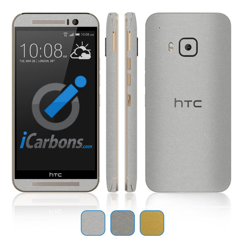 HTC ONE M9 Skins - Brushed Metal - iCarbons - 1