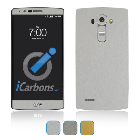 LG G4 Skins - Brushed Metal - iCarbons - 1