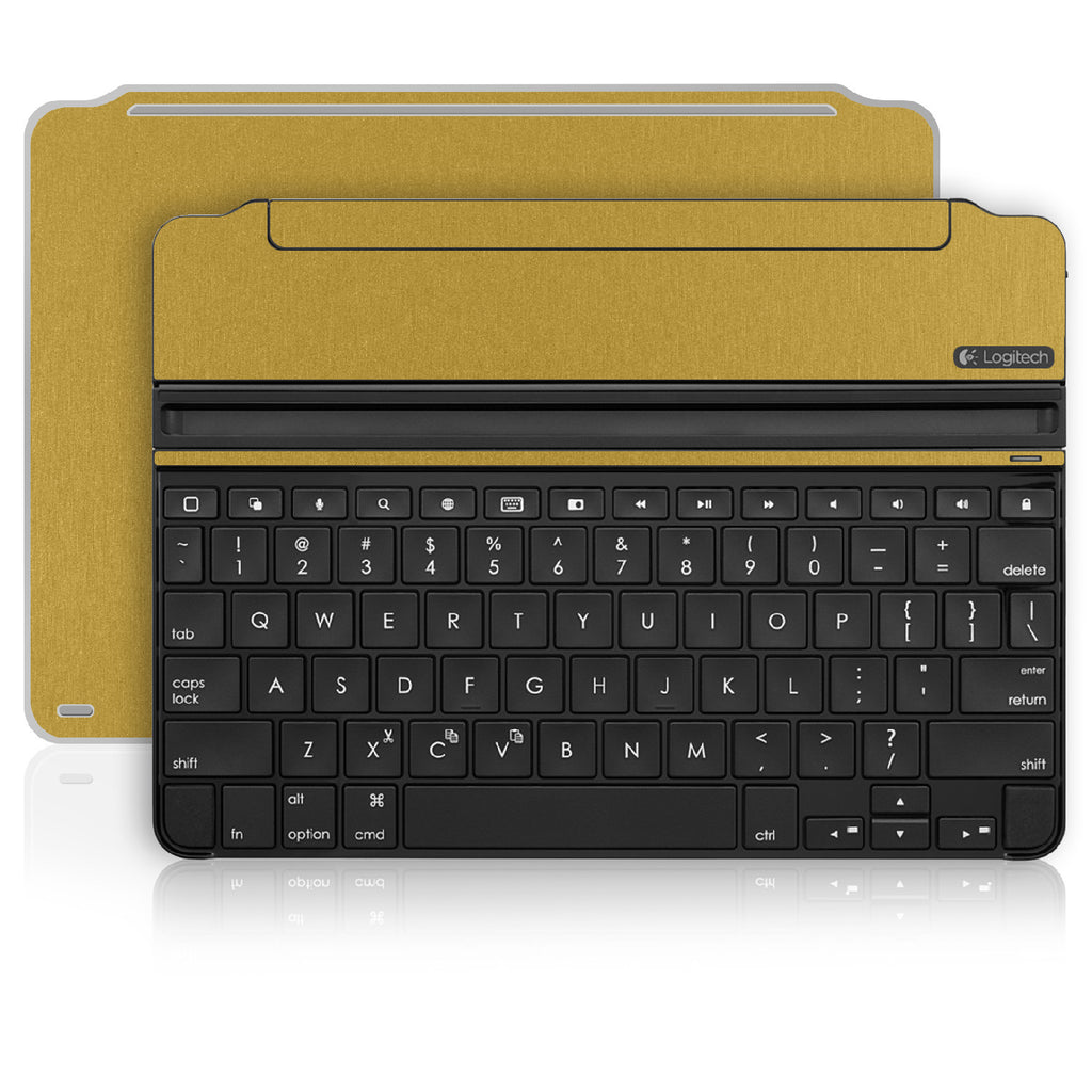 iPad Air 2 Logitech Ultrathin Keyboard Skin - Brushed Gold - iCarbons