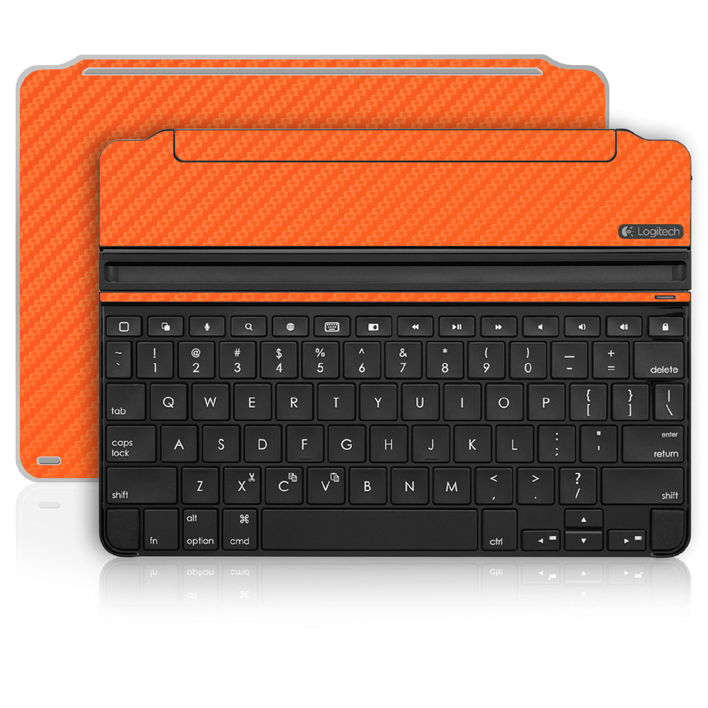 iPad Air 2 Logitech Ultrathin Keyboard Skin - Orange Carbon Fiber - iCarbons