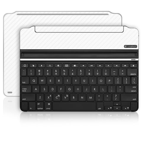 iPad Air 2 Logitech Ultrathin Keyboard Skin - White Carbon Fiber - iCarbons