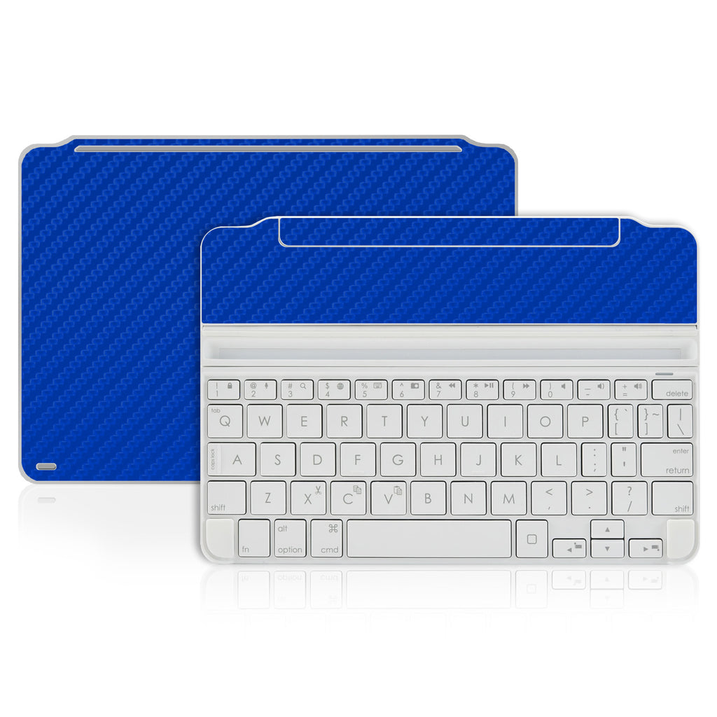 Logitech Ultrathin Keyboard Cover Mini Skin - Blue Carbon Fiber - iCarbons - 1