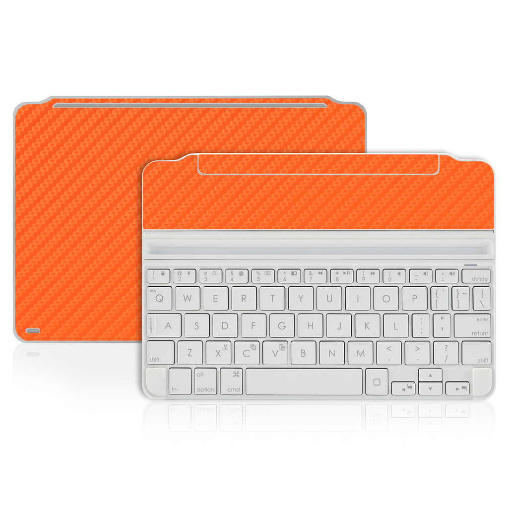 Logitech Ultrathin Keyboard Cover Mini Skin - Orange Carbon Fiber - iCarbons - 1