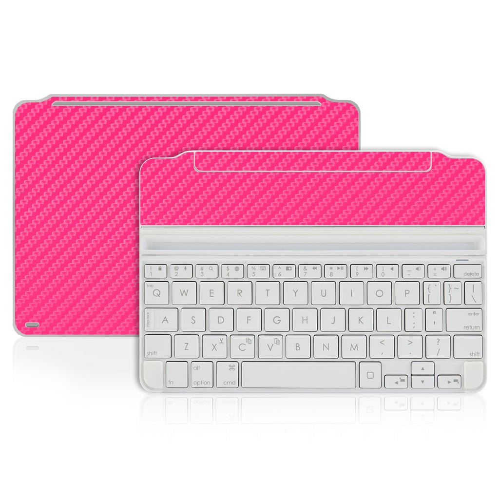 Logitech Ultrathin Keyboard Cover Mini Skin - Pink Carbon Fiber - iCarbons - 1