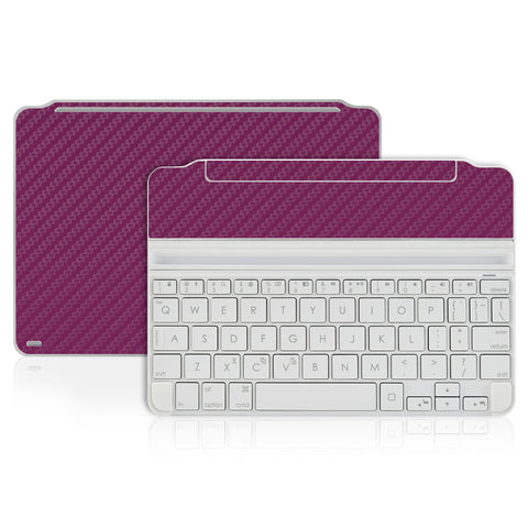 Logitech Ultrathin Keyboard Cover Mini Skin - Purple Carbon Fiber - iCarbons - 1