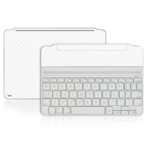 Logitech Ultrathin Keyboard Cover Mini Skin - White Carbon Fiber - iCarbons - 1