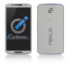 Nexus 6 Skins - Brushed Metal