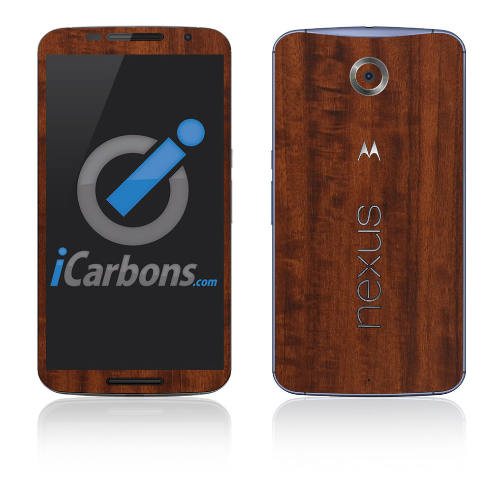 Nexus 6 Skins - Wood Grain - iCarbons - 1