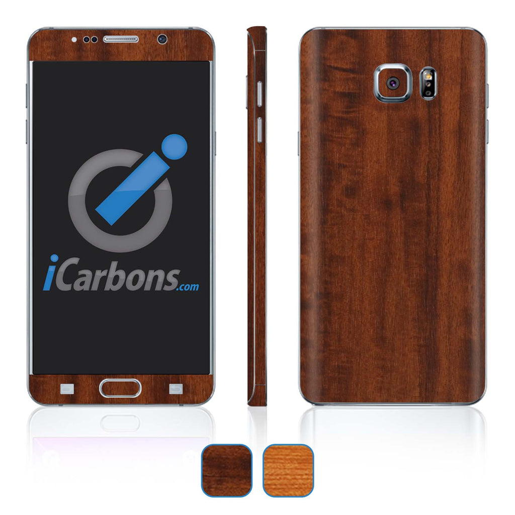 Samsung Galaxy Note 5 Skins - Wood Grain - iCarbons - 1