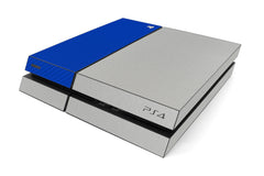 Playstation 4 Two/Tone - Brushed Aluminum/Blue Carbon Fiber