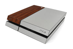 Playstation 4 Two/Tone - Brushed Aluminum/Dark Wood