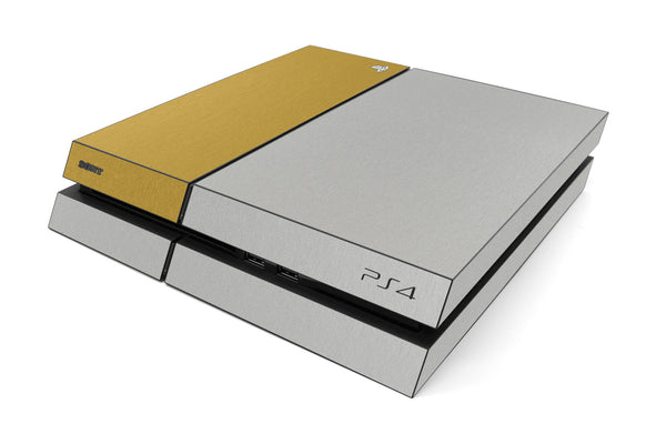 Playstation 4 Two/Tone - Brushed Aluminum/Gold - iCarbons
