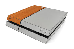 Playstation 4 Two/Tone - Brushed Aluminum/Light Wood