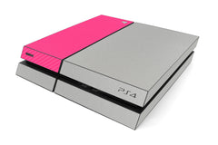 Playstation 4 Two/Tone - Brushed Aluminum/Pink Carbon Fiber