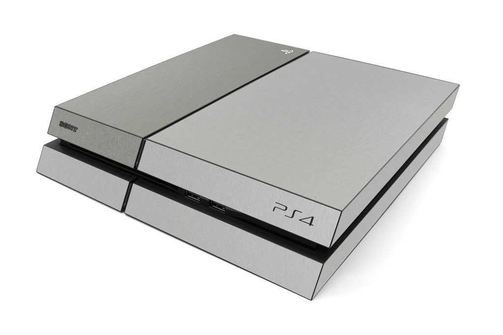 Playstation 4 Two/Tone - Brushed Aluminum/Titanium - iCarbons
