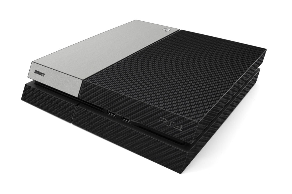 Playstation 4 Two/Tone - Black/Brushed Aluminum - iCarbons