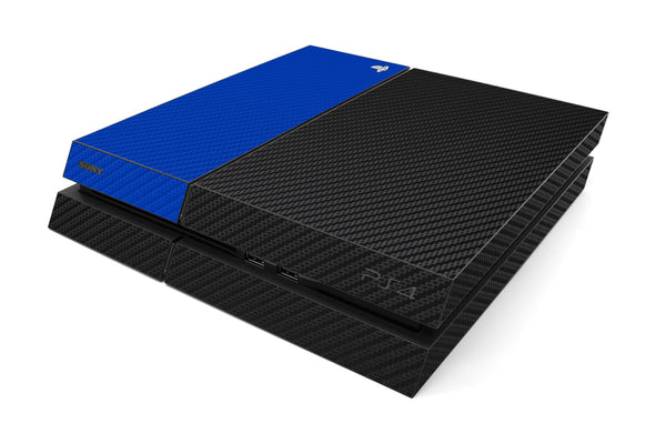 Playstation 4 Two/Tone - Black/Blue Carbon Fiber - iCarbons