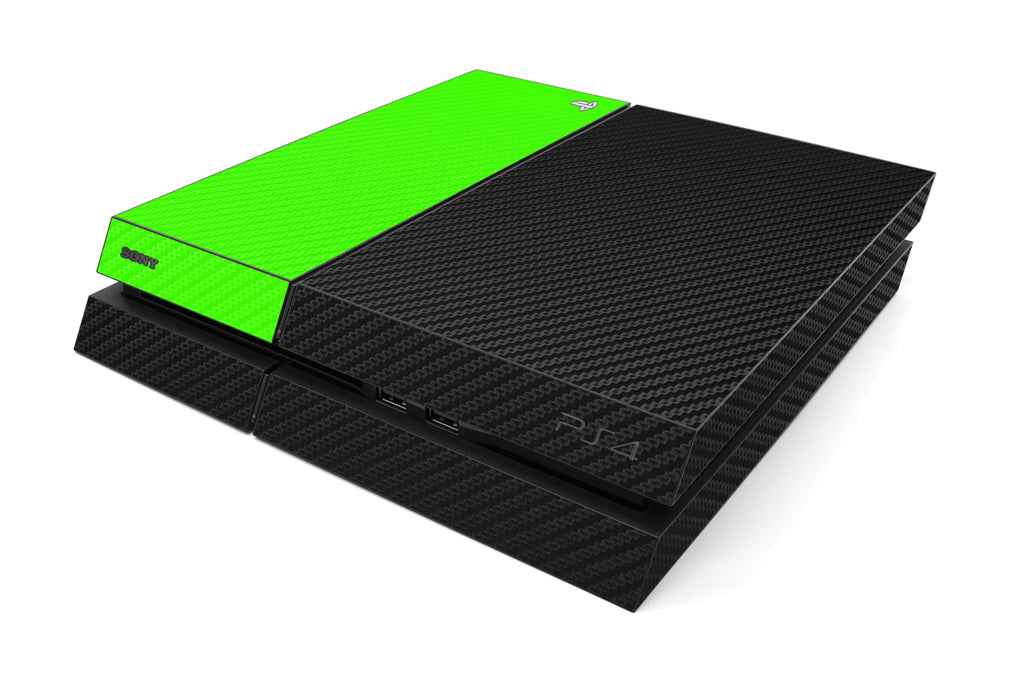 Playstation 4 Two/Tone - Black/Green Carbon Fiber - iCarbons