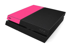 Playstation 4 Two/Tone - Black/Pink Carbon Fiber
