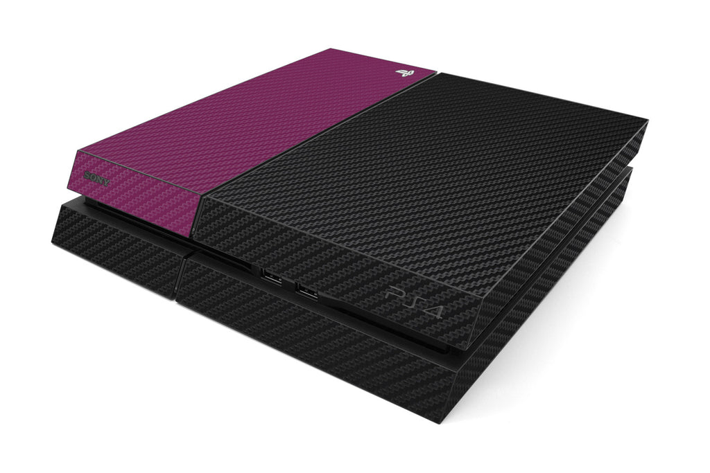 Playstation 4 Two/Tone - Black/Purple Carbon Fiber - iCarbons
