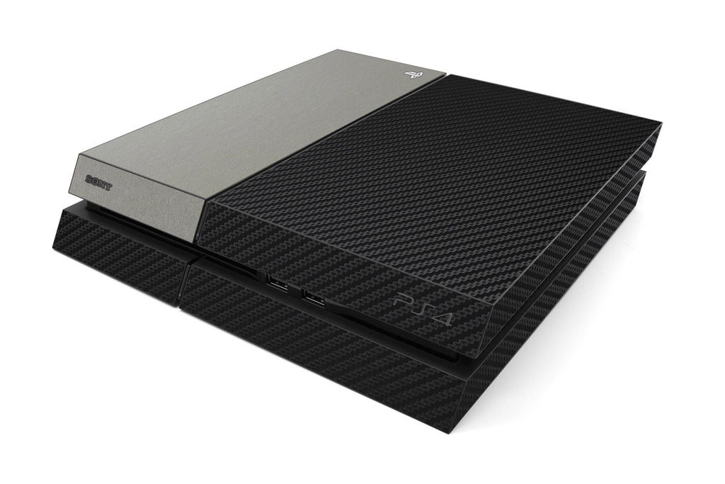 Playstation 4 Two/Tone - Black/Brushed Titanium - iCarbons