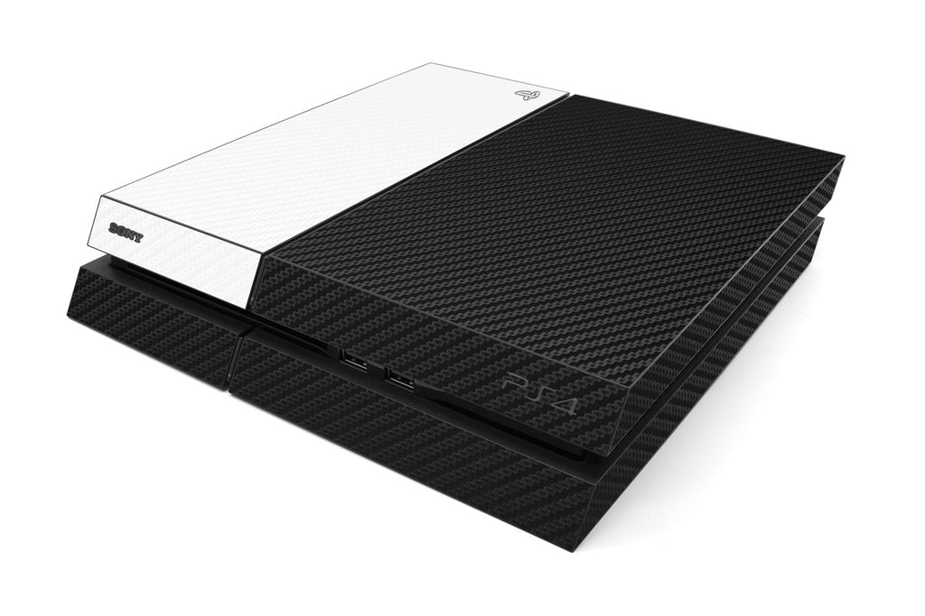 Playstation 4 Two/Tone - Black/White Carbon Fiber - iCarbons