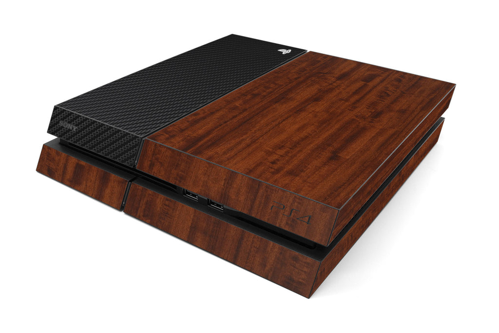 Playstation 4 Two/Tone - Dark Wood/Black Carbon Fiber - iCarbons