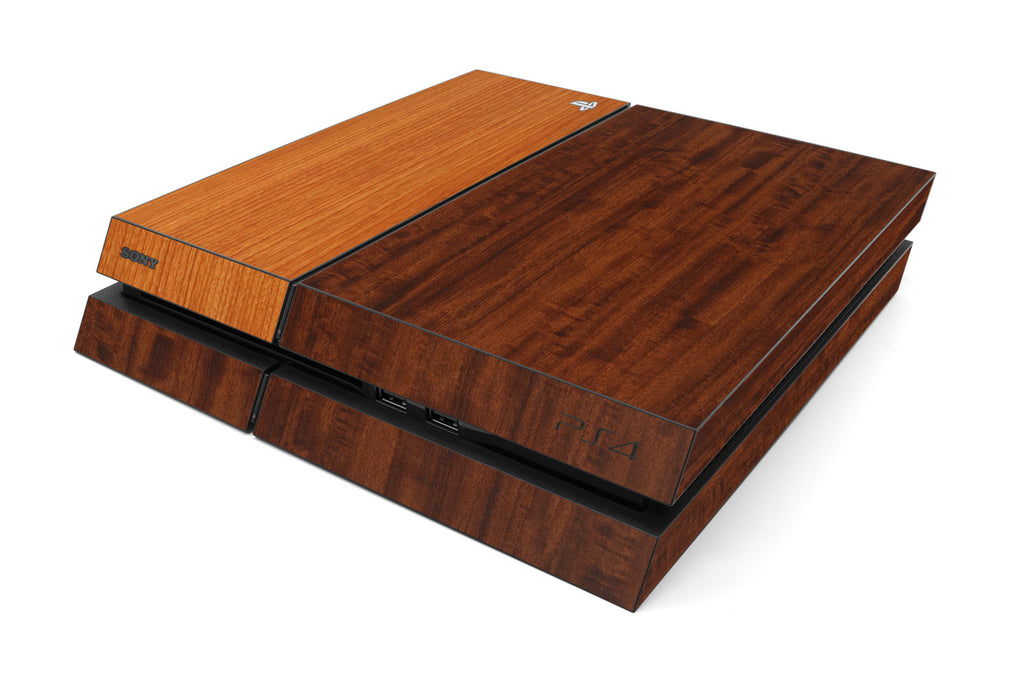 Playstation 4 Two/Tone - Dark/Light Wood - iCarbons