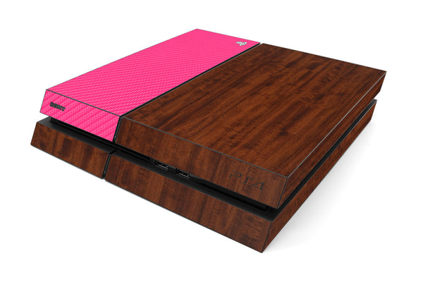 Playstation 4 Two/Tone - Dark Wood/Pink Carbon Fiber - iCarbons