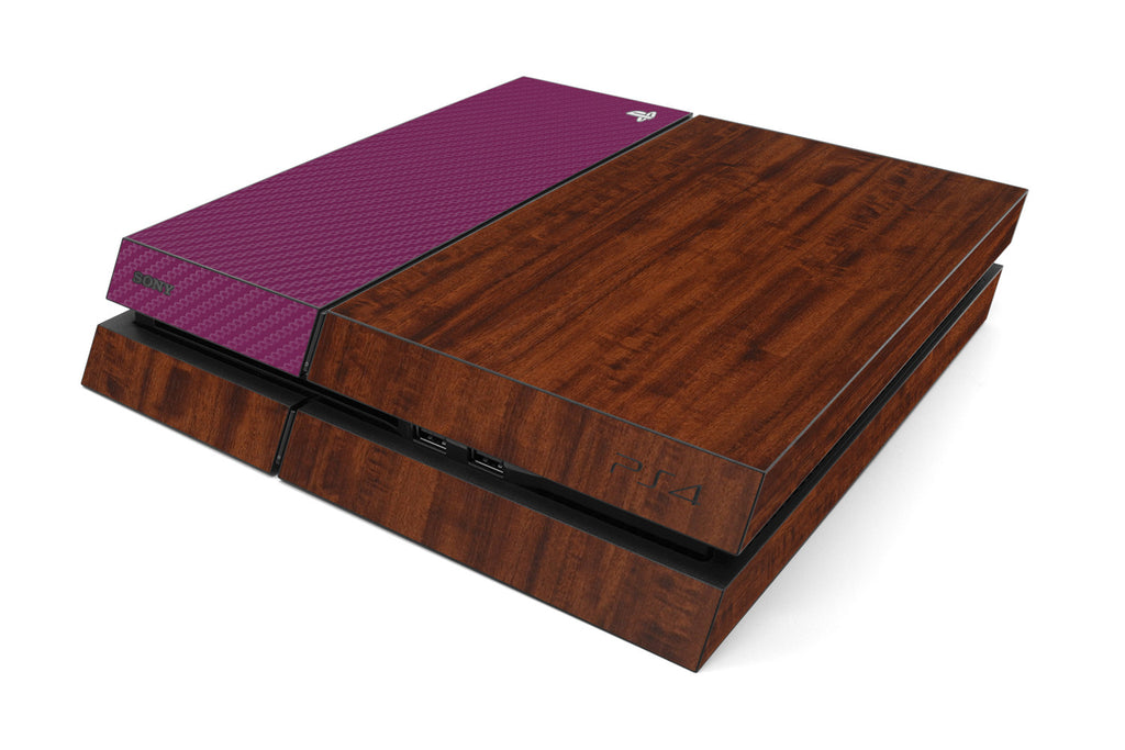 Playstation 4 Two/Tone - Dark Wood/Purple Carbon Fiber - iCarbons
