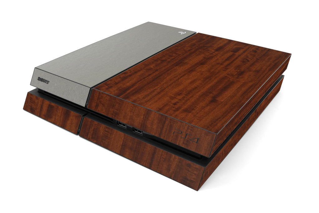 Playstation 4 Two/Tone - Dark Wood/Brushed Titanium - iCarbons