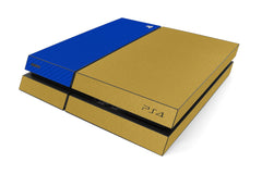 Playstation 4 Two/Tone - Brushed Gold/Blue Carbon Fiber