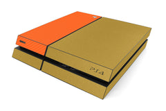 Playstation 4 Two/Tone - Brushed Gold/Orange Carbon Fiber