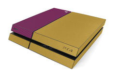 Playstation 4 Two/Tone - Brushed Gold/Purple Carbon Fiber